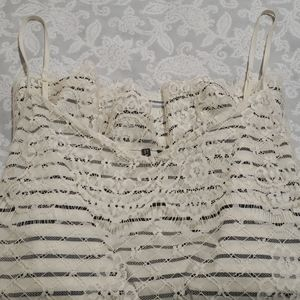 Cute Maurices Tank with lace overlay sz med